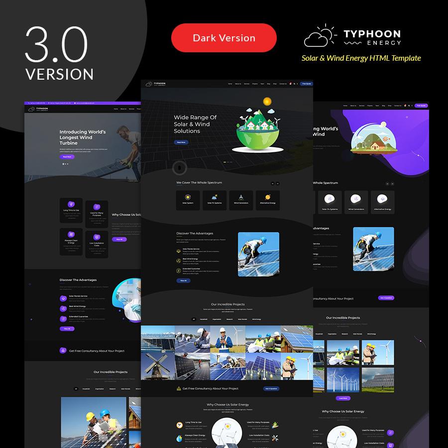 Typhoon - Solar & wind Energy HTML Template - 1