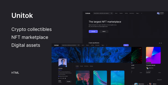 Unitok – NFT Marketplace HTML Template