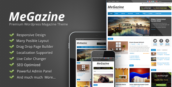 Megazine – Responsive WordPress Theme