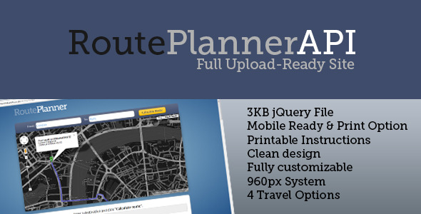 RoutePlanner API - CodeCanyon Item for Sale