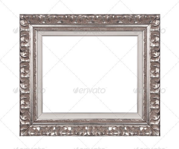 Silver frame - Stock Photo - Images