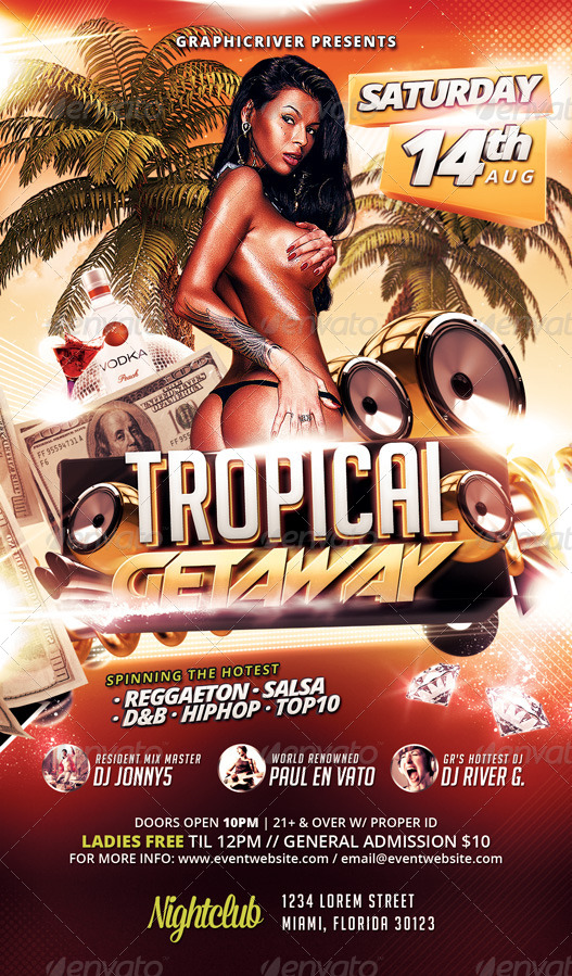 Tropical / Exotic Getaway Flyer Template