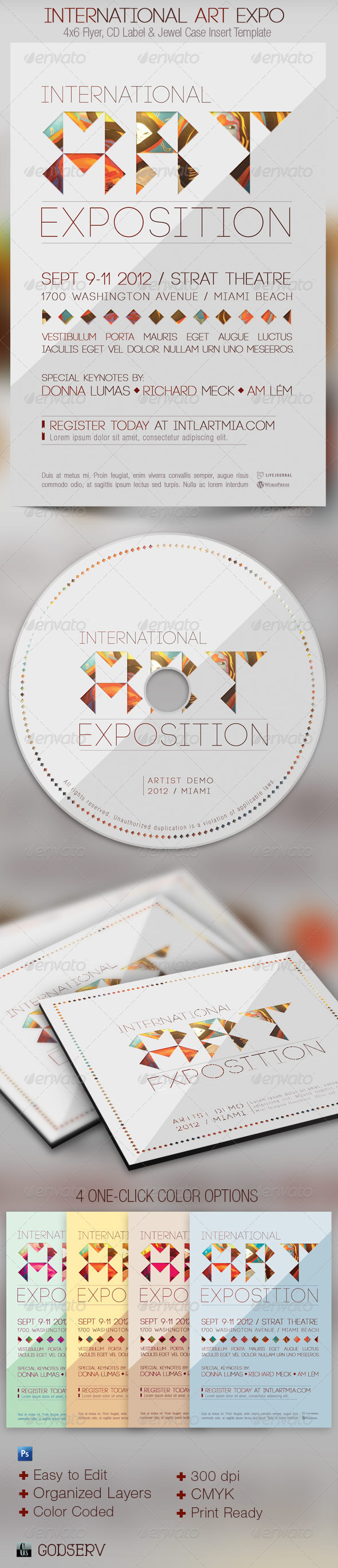 International Art Expo Flyer CD Template - Events Flyers