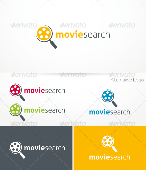 Movie Search Logo Template - Objects Logo Templates