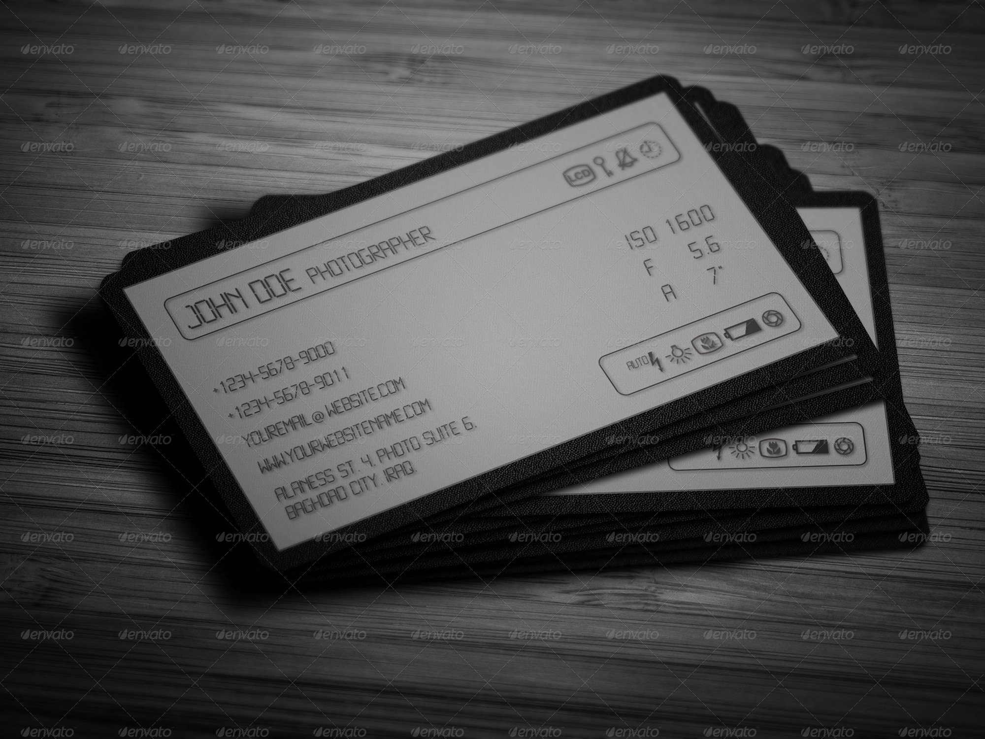 camera lcd business card by owpictures