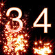 Numbers Revealed By Stars Orange Style - VideoHive Item for Sale