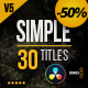Gold Simple Titles 4K | DaVinci Resolve - VideoHive Item for Sale