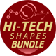 Hi-Tech Photoshop Shapes Bundle - GraphicRiver Item for Sale