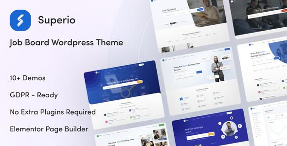 Superio – Job Board WordPress Theme