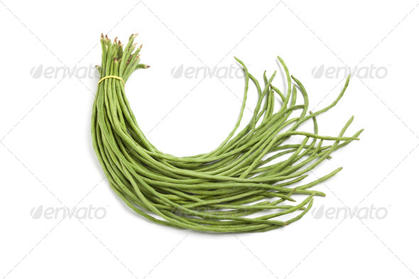 Bundle of fresh Chinese long beans - Stock Photo - Images