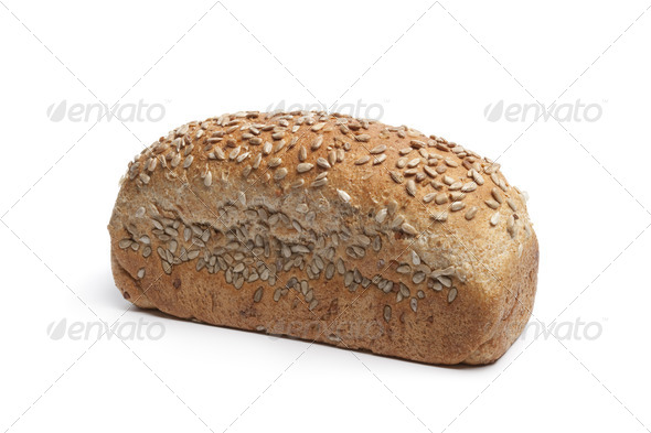 Fresh wholewheat bread with sunflower seeds - Stock Photo - Images
