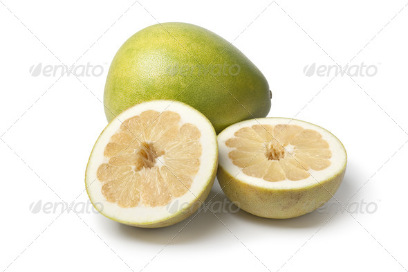 Whole and partial pummelo - Stock Photo - Images