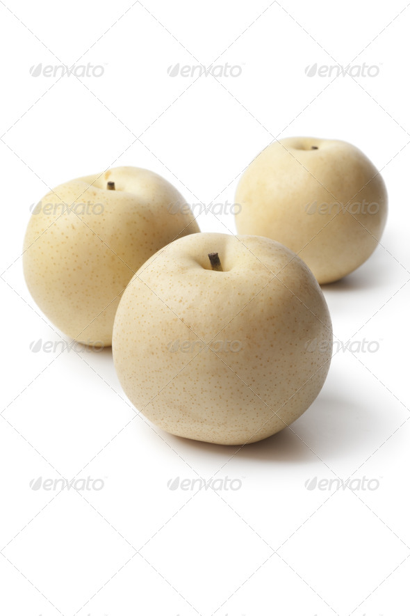 Whole Nashi pears - Stock Photo - Images