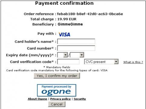 Ogone Payment Gateway