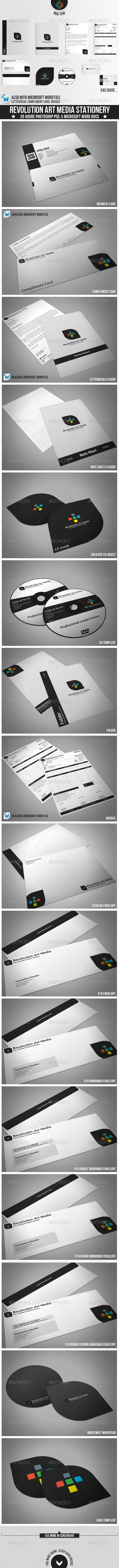 Revolution Art Media Stationery - Stationery Print Templates