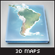 Realistic South America Map - Layered - GraphicRiver Item for Sale