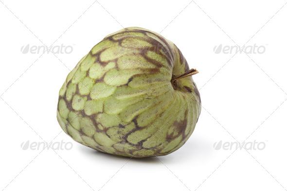 Whole single Cherimoya fruit - Stock Photo - Images
