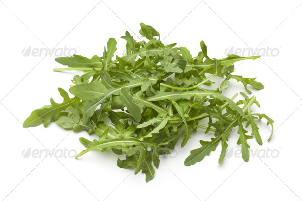 Heap of fresh Arugula leaves - Stock Photo - Images
