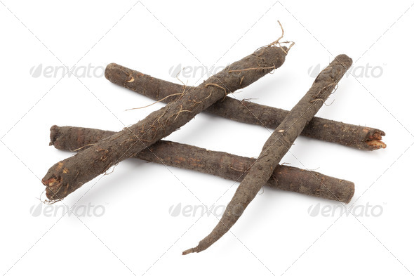 Fresh black salsify - Stock Photo - Images