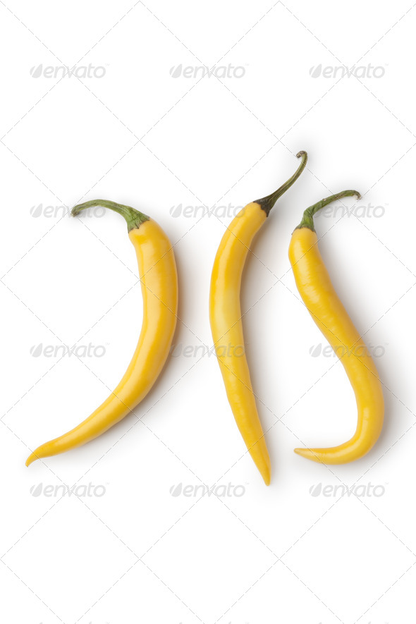 Fresh yellow hot peppers - Stock Photo - Images