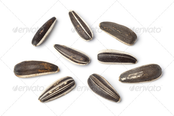Close up of fresh sunflower seeds - Stock Photo - Images