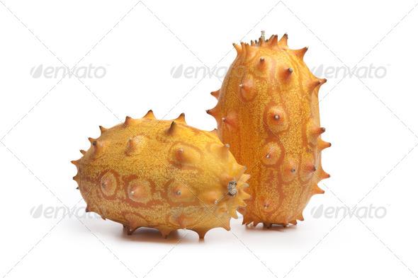 Whole fresh kiwano fruit - Stock Photo - Images