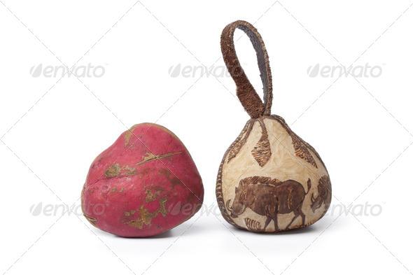 Kola nut and a souvenir - Stock Photo - Images
