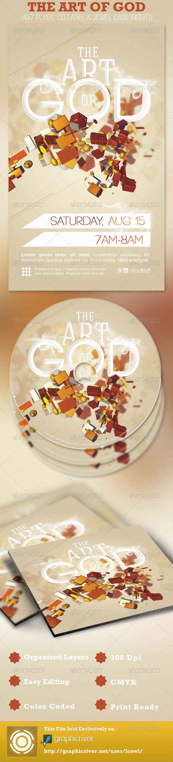 The Art of God Church Flyer and CD Template - Church Flyers