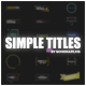 Simple Titles For Premiere - VideoHive Item for Sale