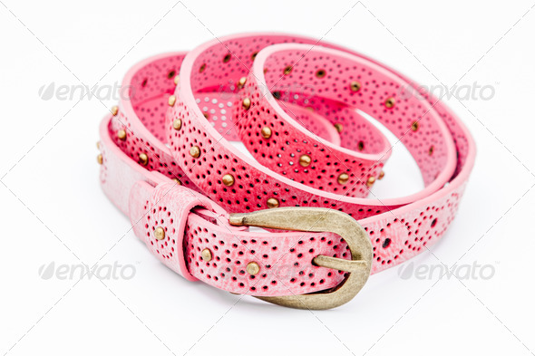 Pink women belts - Stock Photo - Images