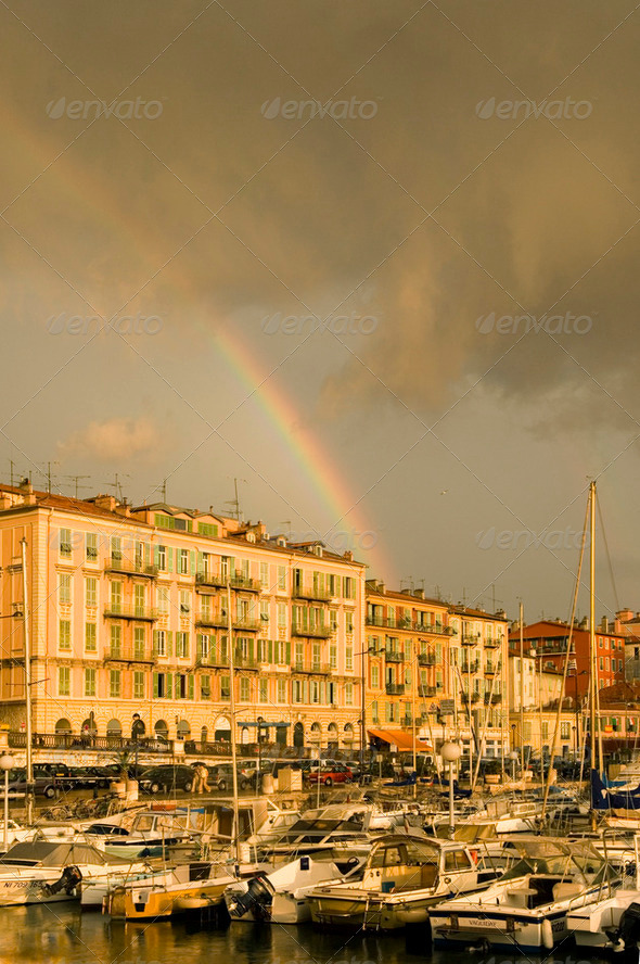 Port of Nice after the storm - Stock Photo - Images