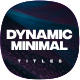 Dynamic Minimalism Titles - VideoHive Item for Sale