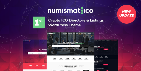 Nice Numismatico - Cryptocurrency Directory & Listings WordPress Theme