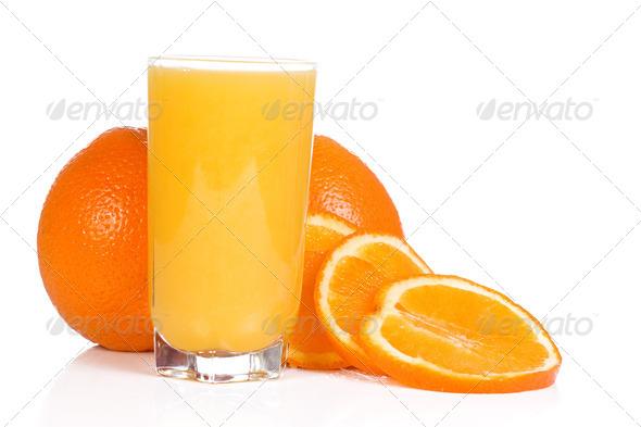 tasty orange on white - Stock Photo - Images