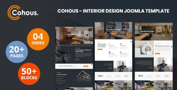 Cohous - Interior Design Helix Ultimate Joomla Template