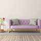 Retro style room with pink sofa - PhotoDune Item for Sale