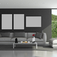 Blck and gray modern living room - PhotoDune Item for Sale