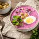 Fresh summer beet soup in bowl - PhotoDune Item for Sale