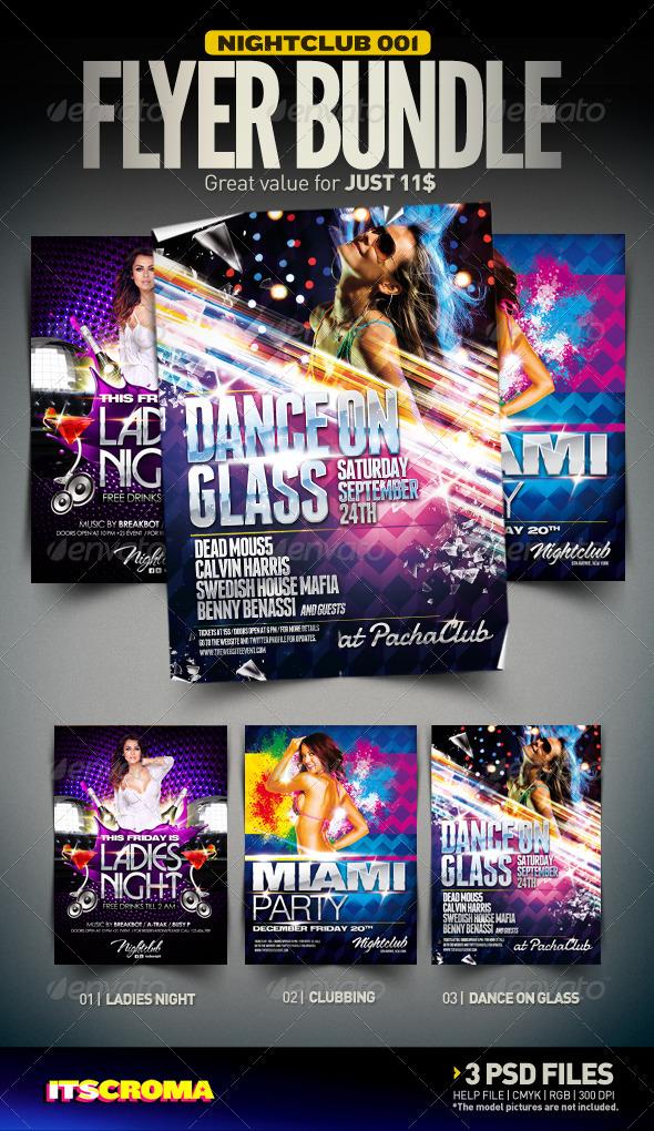 Nightclub Flyer Bundle | 001 - Clubs & Parties Events