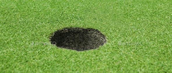 Golf hole background - Stock Photo - Images