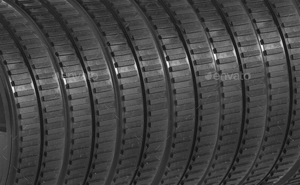 rubber tires background - Stock Photo - Images