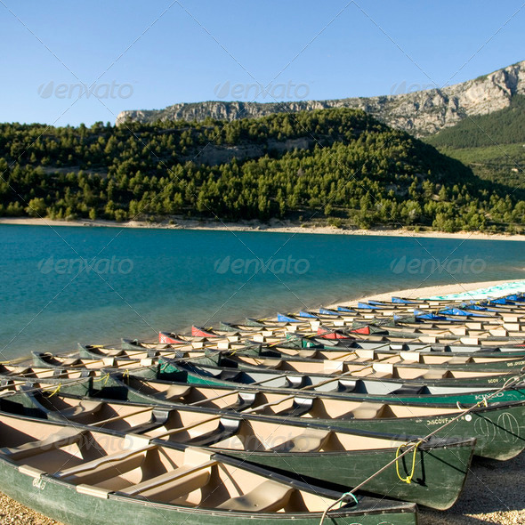 Canoes - Stock Photo - Images