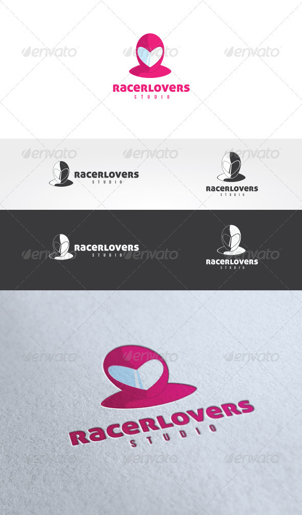 Racer Lovers Logo Template - Humans Logo Templates