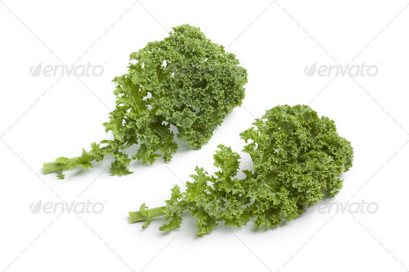 Curly kale leaves - Stock Photo - Images