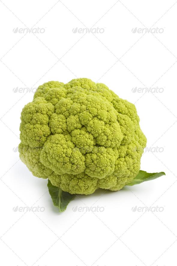 Fresh green cauliflower - Stock Photo - Images