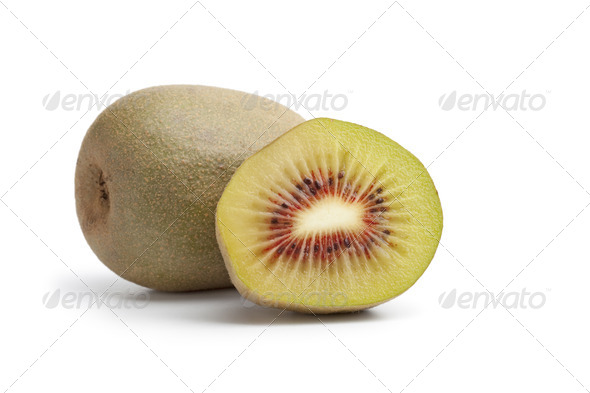 Sweet sun kiwi with a red heart - Stock Photo - Images