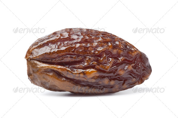Whole single dried date - Stock Photo - Images