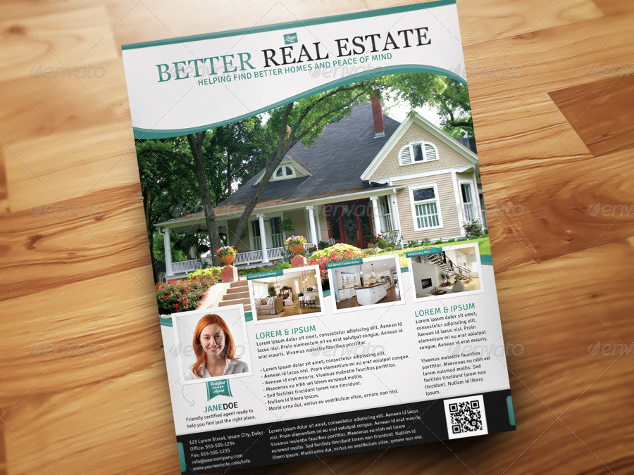 Better Real Estate Flyer Template By Designfathoms | Graphicriver