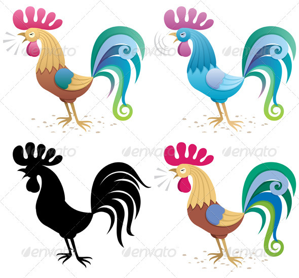 Rooster - Characters Vectors