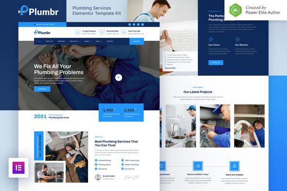 Plumbr – Plumbing Services Elementor Template Kit